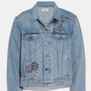 Authentic Coach Embellished Jean Jacket, 8